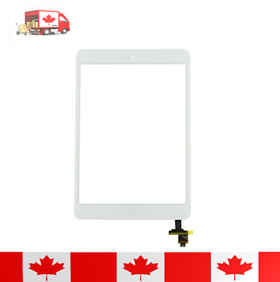 White Touch Screen Digitizer IC Chip Flex And Tempered Glass For iPad Mini 1 & 2