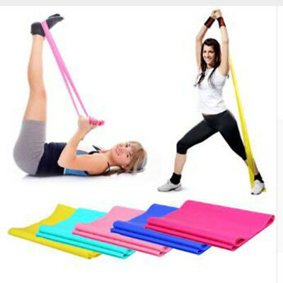 1.2m Elastic Yoga Pilates Rubber Stretch Exercise Band Arm Back Leg Fitness