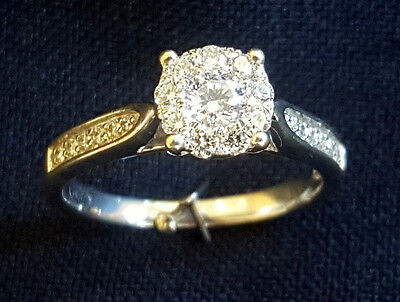 9ct White Gold Diamond Cluster Style Ring - Valuation $2,590