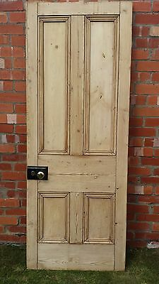 Reclaimed Victorian Stripped Pine Four Panel 2 Over 2 Internal Door