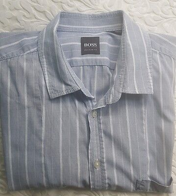 HUGO BOSS mens l/s shirt. Size L