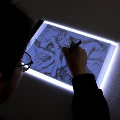 New A4 LED Artist Thin Art Stencil Board Light Box Tracing Drawing Board Table G