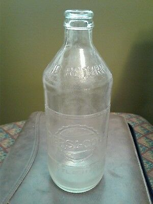 Vintage Antique 1969 Pepsi-Cola (10 Oz) With Embossed Letters.  (Rare)