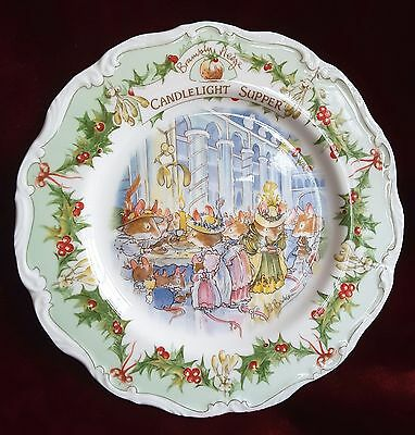 """Brambly Hedge Royal Doulton, Teller """"Candlelight Supper"""""""