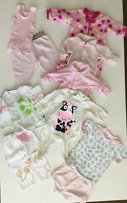 10 X MIXED ITEMS BABY GIRL SIZE 000 3 Months ONSIES BABYGRO SET TEE BONDS TARGET