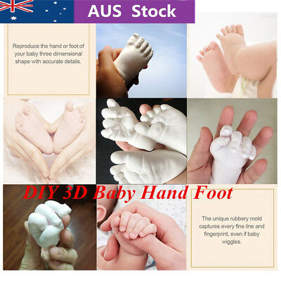 3D Plaster Molding Clone Powder Kids Handprints Footprints Baby Hand Foot GT