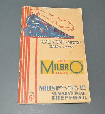 Old 'Milbro' Mills Bros Model Railway Engineers Sales Catalogue for 1937-8.