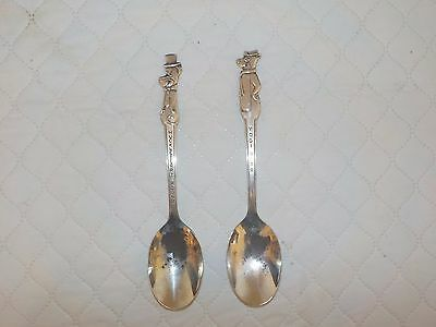 Vintage Set of Huckleberry Hound & Yogi Bear Children's Spoons, Old Company, IS