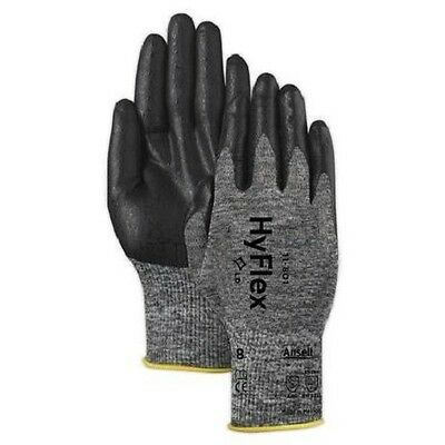 3 pair Ansell HyFlex 11-801 Foam Nitrile Coating Glove Size 8