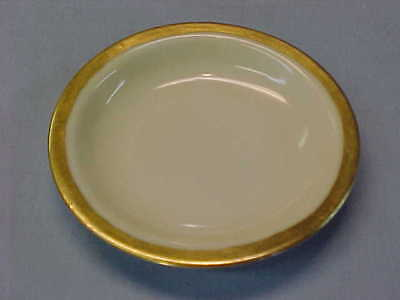 "Vintage Gold Band Butter Pat 3 1/2"" Wide  #157"