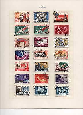 RUSSIA - 1961 - 3 Sheets - Collection of beautiful stamps