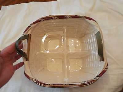 Longaberger 2005 Christmas Collection Silver Bells Basket With Divided Liner