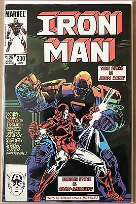 Iron Man #200 ⭐️ 1st First Obadiah Stane ⭐️ VF-