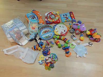 LOT of Baby Developmental Toys Pull-Ups Swim Diapers Plates GREAT QUALITY!!!