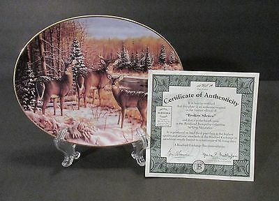 "1994 Bradford Exchange ""Broken Silence"" Deer Oval Collector Plate - Fourth Issue"