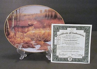 "Bradford Exchange ""Crossing Bounderies"" Deer Oval Collector Plate - Third Issue"