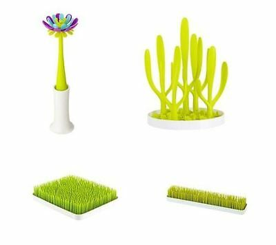 Boon Grass Forb Patch Baby Bottle Drying Rack Countertop Utensils Kitchen Green