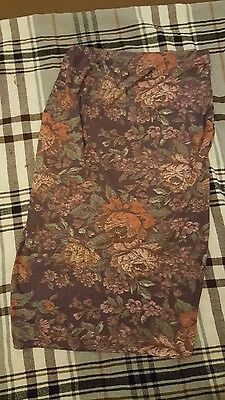 George @ Asda maternity pencil skirt floral purple patterned size 8