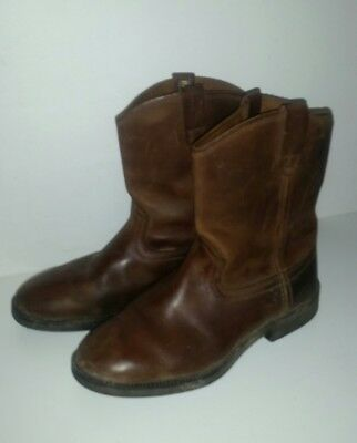 size BAXTER ROPER Riding Boots Brown Leather Ladies Youth 6 excellent condition