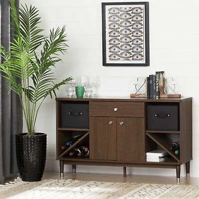 South Shore Furniture, Olly Mid Century modern Sideboard Storage Cabinet