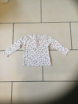 baby girl ceam top age 9-12 months from m&s