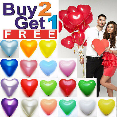 "25 Rainbow Mix 10"" Heart Shaped Biodegradable Balloons -Wedding Party Funeral,"