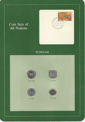 Coin Sets of All Nations - Suriname, Green Card