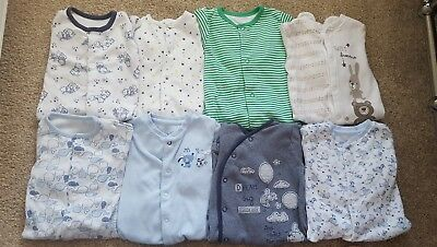 3-6 month baby boy babygrows (8 items)