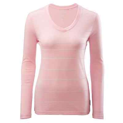 Kathmandu Divide Womens Merino Wool Long Sleeve V Neck Thermal Top Pink
