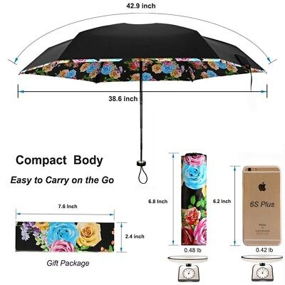 Best Folding Mini Umbrella Women Ultra Compact Light Anti UV Sun Rain Windproof