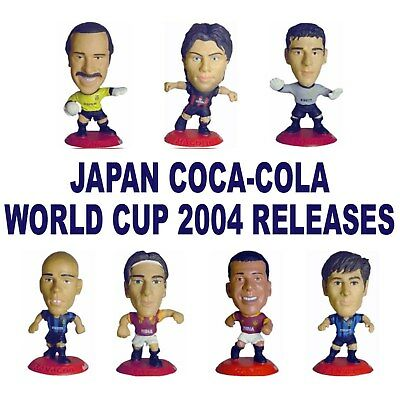 COCA-COLA JAPAN WORLD CUP 2004 MICROSTARS - Choice of 20 Figures RED Base