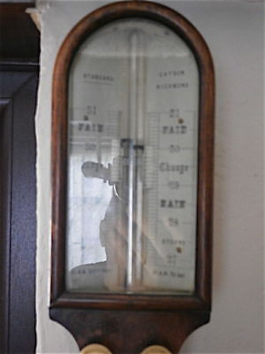 Oak Stick Barometer C1880