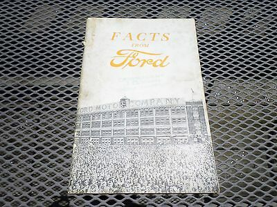 Facts From Ford, 1920 Ford Motor Co. Booklet, 1920 Printing