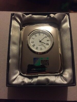 2003 Rugby World Cup Desk Clock.
