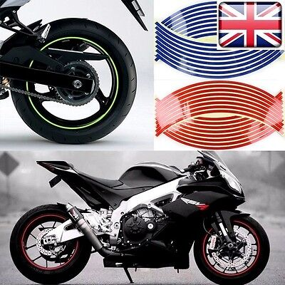 16 Motorbike Car Reflective Sticker Tapes 18/'/' Wheel Rim Yellow Trim Yamaha Suzu