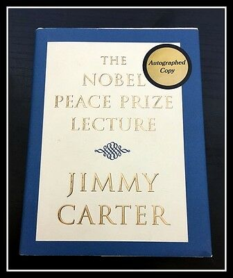 AUTOGRAPHED SIGNED The Nobel Peace Prize Lecture by Jimmy Carter 1st COA FreeS&H
