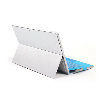Back&Side Body Sticker Skin Decal Cover-Surface Pro 4/ Pro 2017-Brushed SIlver