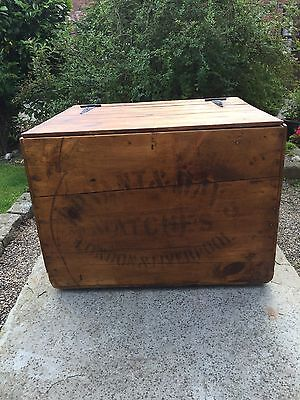 Vintage Packing Case Bryant And May Matches London & Liverpool