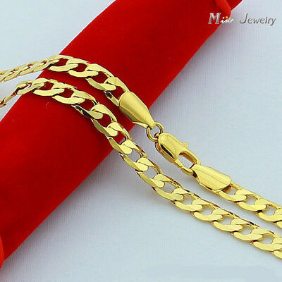 24K Gold plated Necklace Jewelry Wholesale Chain gift Men