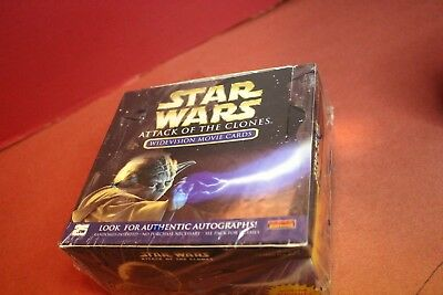 Star Wars Topps Aotc Widevision Movie Box Factory Sealed Autographs