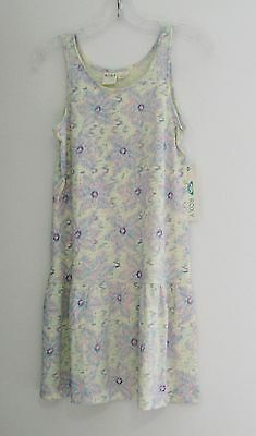 Roxy Girls Alma Floral Sleeveless Dress Sky Blue Sz XL (14) - NWT