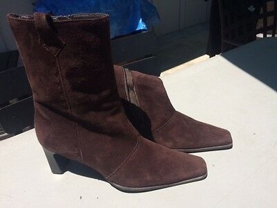 1b253eba4e0dc PAUL GREEN BOOTS Beautiful brown suede size 8.5 US (6 UK) Slightly used.