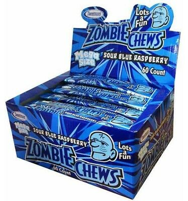 Zombie Chews Sour Blueberry Raspberry x 60