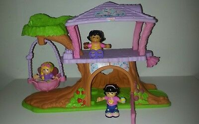 Fisher Price  FAIRY TREE  HOUSE & 3 Girl Character Dolls