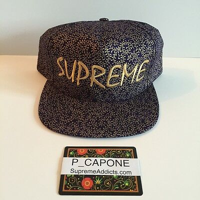 beb9cd1e SUPREME CREEPER 5 PANEL NAVY FLORAL CAMP CAP BOX LOGO CAMO DS NEW camo hat