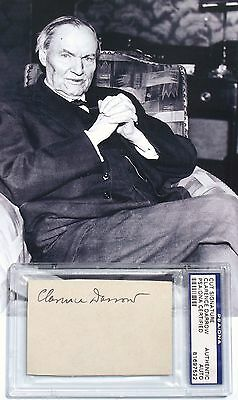 Clarence Darrow Prominent American Lawyer & Advocate Autograph 'Rare' Authentic