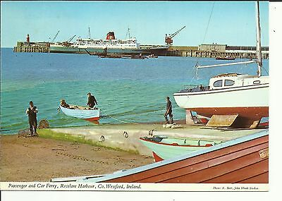 Passenger and Car Ferry, Rosslare Harbour, Co.Wexford Ireland - John Hinde Ltd.