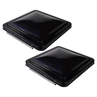 """2 pack 14"""" x 14"""" Replacement Roof Vent Cover Camper RV Trailer Black Ventline"""