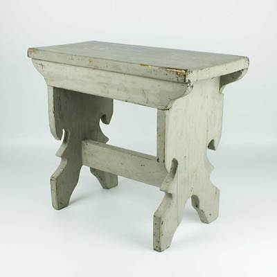 Vintage Antique wooden kitchen stool - French country style bench