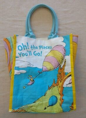 Dr Seuss Oh The Places You'll Go Reusable Graduation Tote Gift Bag Barnes Noble